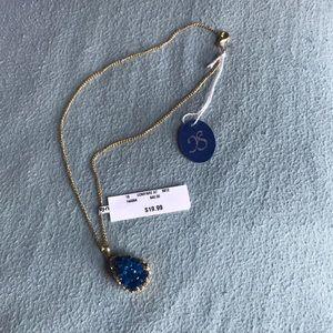 Jewelry - Blue druzy necklace